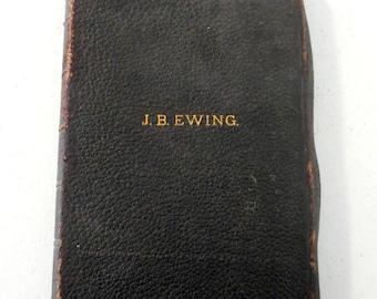 Antique Bible JB Ewing 1893 Teachers Study Maps Syrian Levant Silk Sewn Scripture Atlas
