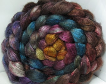 Yak Bombyx Silk 50/50 Roving Combed Top - 5oz - Firelight 2