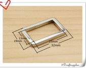 1 inch (inner diameter) Nickel rectangle alloy buckles 10pcs 3mm thickness U76
