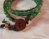 Green Double Wrap Bracelet