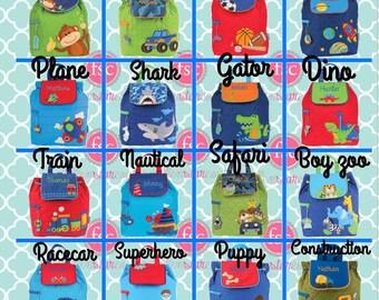 toddler back back , toy bag , preschool backpack , stephen joseph backpack , personalized kids bag , preschooler backpack