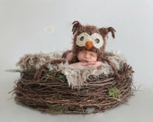 Baby Boys Owl Hat Size Newborn 3m 6m Brown Crochet Soft Photo Prop Baby Boys Girls Clothes Gender Neutral CUTE Perfect all year Round