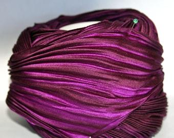 1 yd Shibori Girls Hand Dyed Silk Ribbon Deep Passion