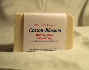 Cotton Blossom Goats Milk Soap with Castile and Shea Butter