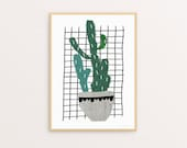 ON SALE! Cactus Two Sizes -  Print Or Poster