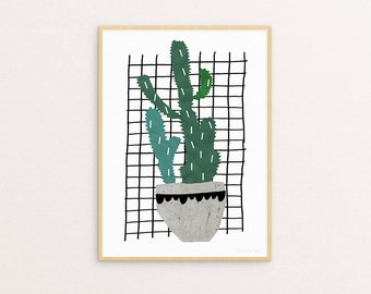 Cactus Two Sizes -  Print Or Poster