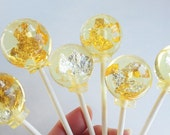 24 carat edible gold lollipops