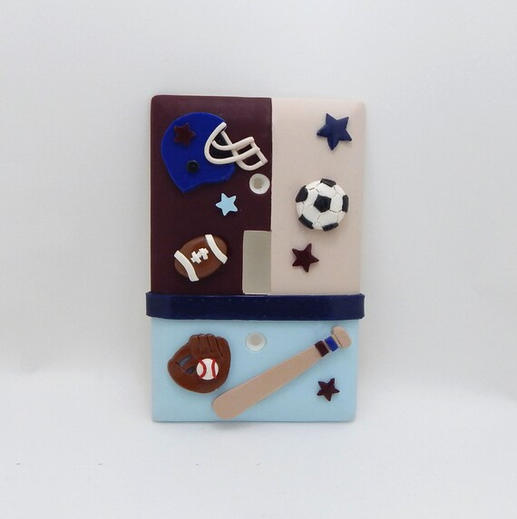 Sports Themed Light Switch Or Outlet Cover Baseball