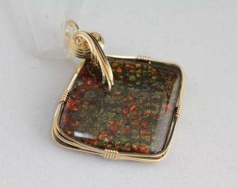 Ammolite Pendant. Listing 453621746