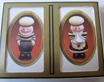 Hershey's Chocolate Double Deck Playing Cards Bridge Sealed Vintage Gemaco Chef Figurines