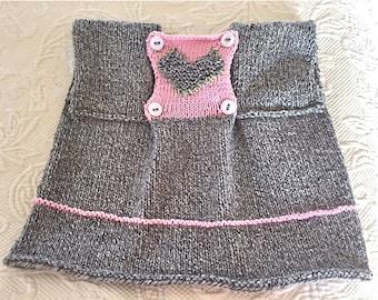 Hand Knit Newborn/Newborn to 12Mos Hand Knit Sweater/Hand Knit Baby/Knitted Baby Sweater/Valentine Baby/Hand Knit Baby Sweater/Knitted