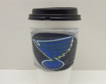 Reusable Up Cycled Drink Wrap NHL Blues