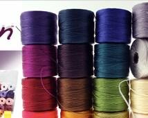 MIXED BOX of Super Lon No 18 SLon Beading Cord 77 Yard Spools Mixed Bead Thread Bead Crochet Kumihimo Macrame Jewelry - You Choose the Color