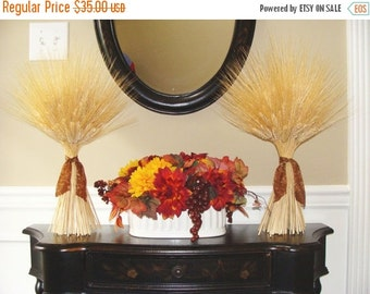 FALL WREATH SALE Fall Harvest Wheat Sheaves- Fall Decor- Thanksgiving Decor- Matching Wheat Fall Decorations- Fall Centerpiece- Mantle Decor