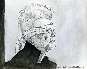 David Bowie Blackstar Print