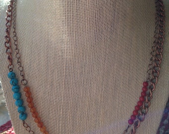 Double strand necklace 1