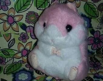 Pink hamster plush, Japanese Keychain, Plush Keychain, Kawaii Plush, Kawaii Plushie, Japan Plush, Emoji, Japanese Plush, Plush strap