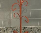 Orange Metal Mug Tree Rack