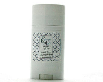 Lavender Tea Tree Natural Deodorant  - All Natural Deodorant, Aluminum free Deodorant