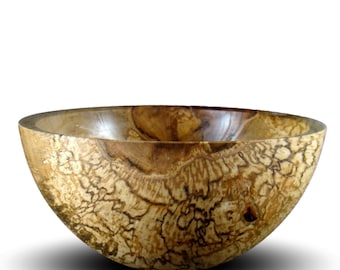 Handmade Spalted Maple Wood Bowl - Food Safe - Handcrafted