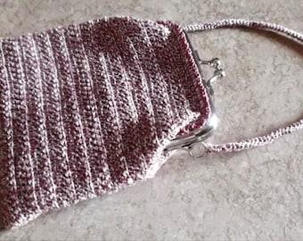 Bonnies Crochet Cotton Thread  Item Wristlet  Coin Purse