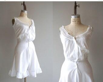 25% OFF SALE Antique Edwardian Camikickers | vintage 1910s lingerie | edwardian chemise bloomers