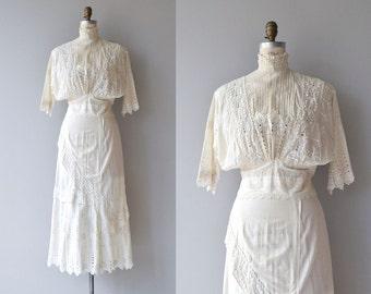 Idle Hour dress | antique Edwardian dress | vintage 1910s cotton dress