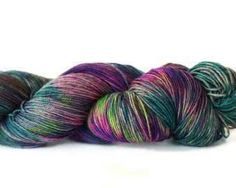 Aurora 437 yards on 'Nepal' Sock Fingering Yarn/ 4 ply merino - yak yarn, handpainted