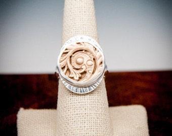 Maidenhair Fern, Maidenhair Fern Ring, Fern Ring, Maidenhair Fern Bronze Jewelry, Bronze Maidenhair Fern, Maidenhair Silver Band Ring