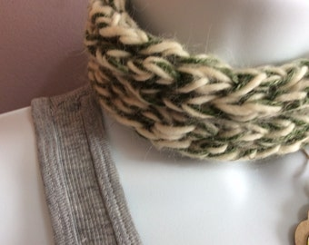 Twisted Fiber - hemp merino blend necklace/cowl