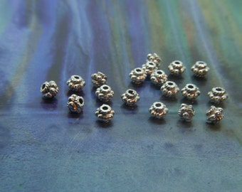 Spacer Bead in Antique Silver Beads Bali style