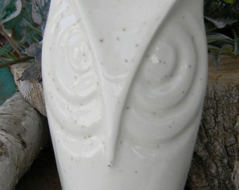 Ceramic Owl  Tall Glazed  - modern from a vintage mold