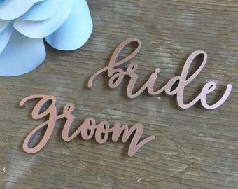 "PLACE SETTING ""bride"" & ""groom"" Signage"