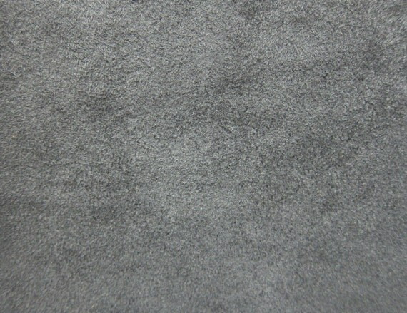 Gray Faux Suede Fabric / Microsuede / Suedette - Large Fat Quarter - Vegan Suede