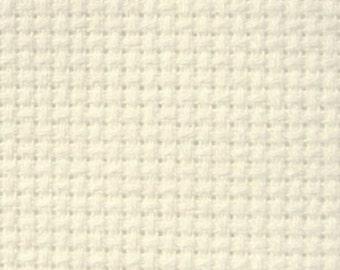 "14 Zweigart Count Aida Cloth - Off White - 62"" Wide - 1 Yard"