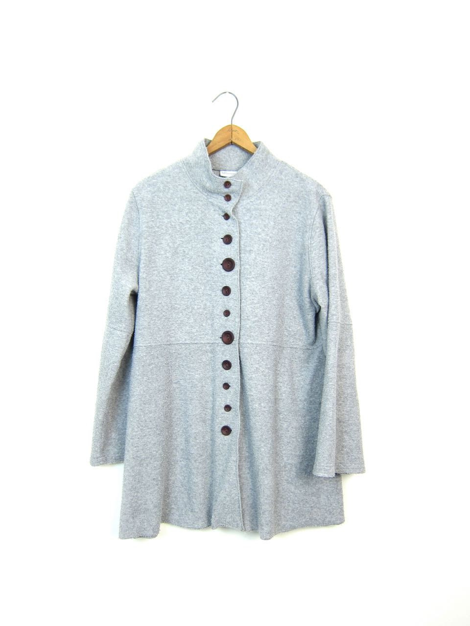 Button Up Sweatshirt Cardigan