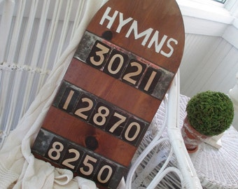 Vintage Church Hymn Board Numbers * Religious * Christianity * 70 NUMBERS!