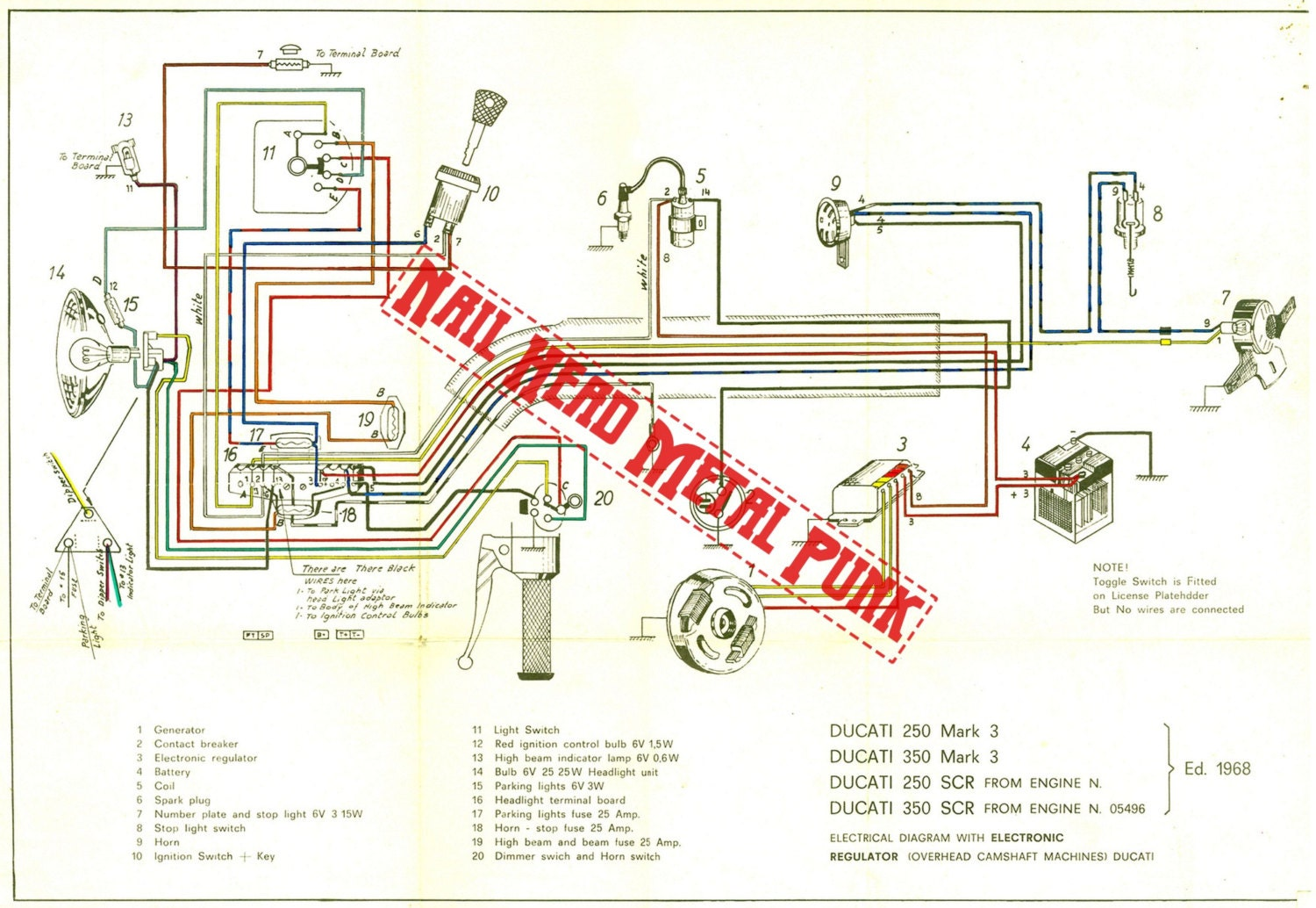 Ducati 250 Mac 3 Wiring Diagram Ducati 250 Mark 3 Wiring