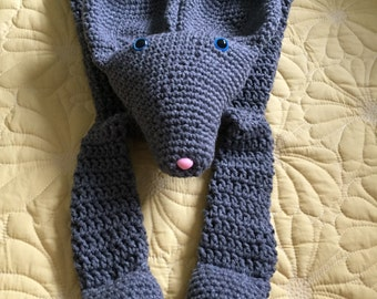 Gray Mouse Rag Doll Toy/Lovey