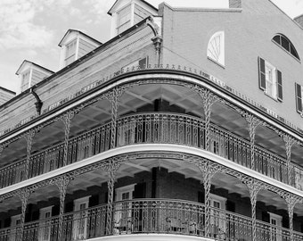 Building Detail French Quarter New Orleans-8x10-B&W Fine Art Photo-Certificate of Authenticity-Signed by Artist