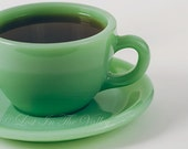 Jadeite Coffee Cup Still Life Photography