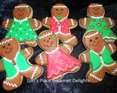 Reserved for Sue----Gingerbread Man Cookies - 6 Cookies