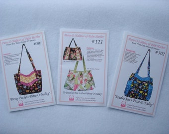 Quiltsy Destash Party New Purse Patterns from Purse-O-Nality