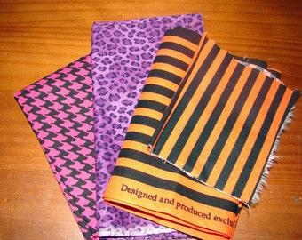 EXTREME DESTASH - 1 Dollar - Multi-Colored / Multi-Patterned Fabric Scraps