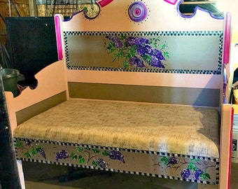 Upcycled Lilac Bench
