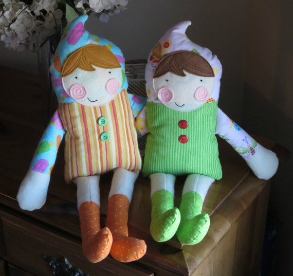 Large Sister dolls soft and plush - READY TO SHIP