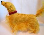 Golden Retriever Knitted Dog, Canine, Stuffed Dog, Retriever, Sporting Dog