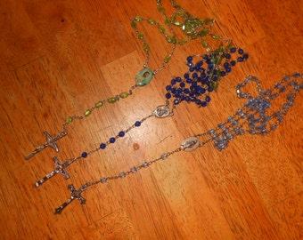 Lot of 3  Vintage Rosaries Rosary