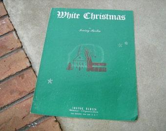 1942  vintage sheet music (  White Christmas  ) Irving Berlin