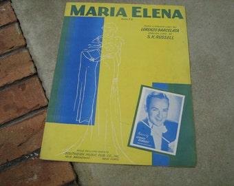 1941  vintage sheet music (  Maria Elena  ) Waltz